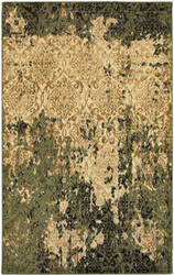 Lr Resources Matrix 81196 Ivory - Dark Green Area Rug