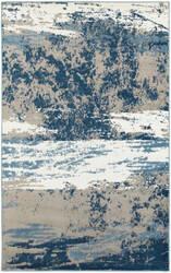 Lr Resources Matrix 81201 Light Beige - Soft Blue Area Rug