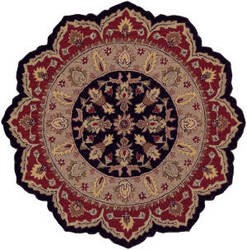 Lr Resources Shapes 10573 Black - Red Area Rug