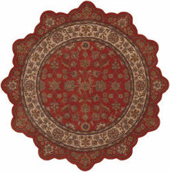 Lr Resources Shapes 50001 Brick - Ivory Area Rug