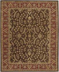 Rugstudio Famous Maker 39910 Brown-Red Area Rug