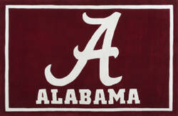 Luxury Sports Rugs Tufted University of Alabama Crimson