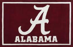 Luxury Sports Rugs Team University of Alabama Crimson Area Rug