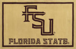 Luxury Sports Rugs Tufted Florida State University Gold