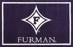 Luxury Sports Rugs Tufted Furman University Purple