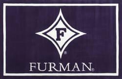 Luxury Sports Rugs Team Furman University Purple Area Rug