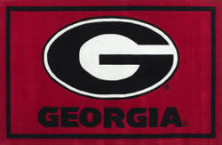 Luxury Sports Rugs Tufted University of Georgia Red