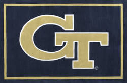 Luxury Sports Rugs Team Georgia Tech Navy Area Rug