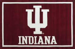 Luxury Sports Rugs Tufted Indiana University Crimson