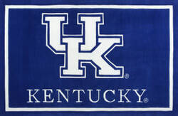 Luxury Sports Rugs Tufted University of Kentucky Blue
