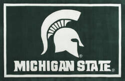 Luxury Sports Rugs Team Michigan State University Green Area Rug