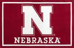 Luxury Sports Rugs Team University of Nebraska Red Area Rug