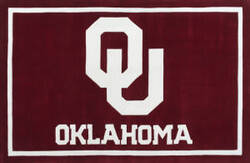 Luxury Sports Rugs Tufted University of Oklahoma Crimson