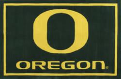 Luxury Sports Rugs Team University of Oregon Green Area Rug