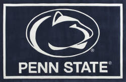 Luxury Sports Rugs Team Penn State University Navy Area Rug