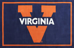Luxury Sports Rugs Team University of Virginia Blue Area Rug