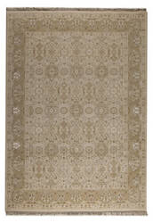 Mat Orange Grandeur Cream Area Rug