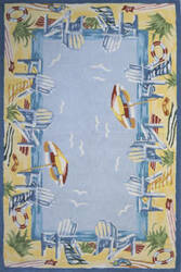 Momeni Coastal Cc-03 Light Blue Area Rug