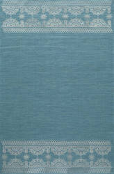 Momeni Lace Embroided Lac-2 Teal Area Rug