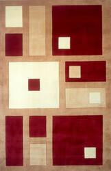 Momeni New Wave Nw-50 Red Area Rug