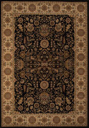 Momeni Royal Ry-03 Black Area Rug