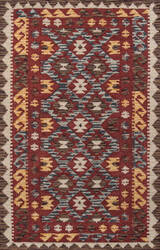 Momeni Tangier Tan-7 Red Area Rug