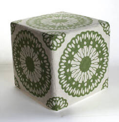 Momeni Chainstitch Pouf Cso-8 Green