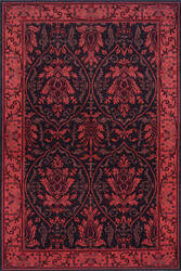 Momeni Nouveau Nv-06 Black Area Rug