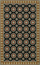 Momeni Suzani Hook Szi-3 Black Area Rug