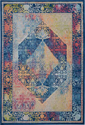 Nourison Global Vintage Glb04 Blue - Multicolor Area Rug