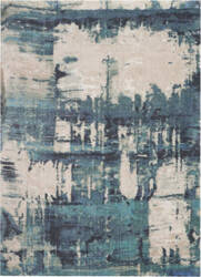 Nourison Abstract Shag Abs01 Blue Area Rug