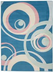Nourison Grafix Grf21 Blue Multi Colored Area Rug
