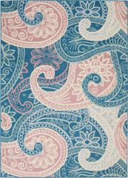 Nourison Jubilant Jub13 Blue Area Rug