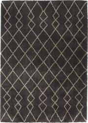 Nourison Geometric Shag Gos01 Charcoal Area Rug