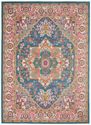 Nourison Passion Psn20 Teal Multicolor Area Rug