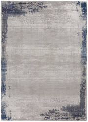 Nourison Etchings Etc01 Grey - Navy Area Rug