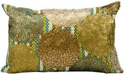 Kathy Ireland Pillows At656 Green Copper