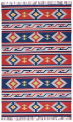 Nourison Baja Baj03 Blue - Red Area Rug