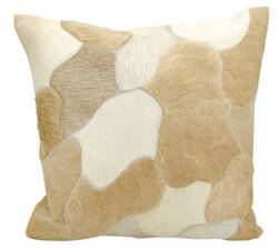 Nourison Natural Leather And Hide Pillow C4600 Beige