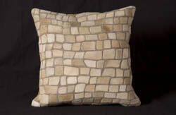 Nourison Pillows Natural Leather Hide C5500 Ivory