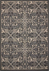 Nourison Caribbean Crb12 Charcoal Area Rug