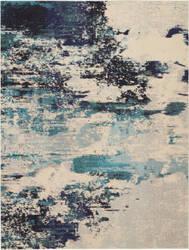 Nourison Celestial Ces02 Ivory Teal Blue Area Rug