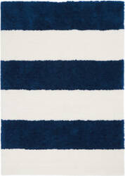 Calvin Klein Chicago Shag Ck722 White - Navy Area Rug