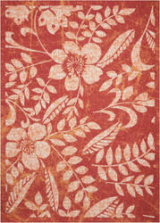 Nourison Coastal Cstl3 Red Area Rug