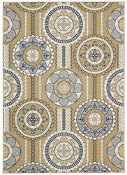 Nourison Carribean Crb03 Yellow 605 Area Rug