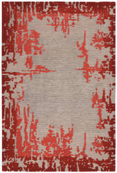 Nourison Symmetry Smm02 Beige - Red Area Rug