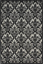 Nourison Damask Das02 Black-White Area Rug