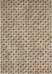 Nourison Deco Mod Dec02 Black - Beige Area Rug