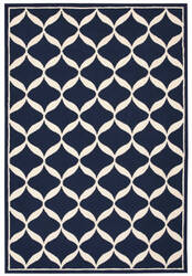 Nourison Decor Der06 Navy White Area Rug