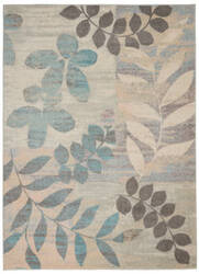 Nourison Tranquil Tra01 Ivory - Light Blue Area Rug